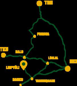 Karttapiirros Leipyölin tilan sijainnista